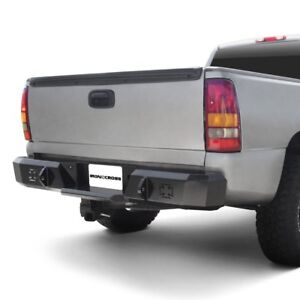 For Chevy Silverado 1500 99 06 Heavy Duty Series Full Width Black Rear Hd Bumper