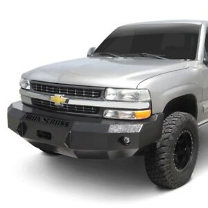 For Chevy Silverado 1500 99 02 Bumper Heavy Duty Series Full Width Black Front