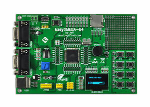 Avr Development Evaluation Board Atxmega Xmega128a3u Usb Oled Easyxmega 64