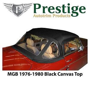 Mgb Convertible Top Soft Top Tops 1976 1980 Black Canvas With Zippered Window