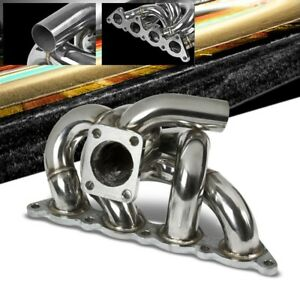 Race Ss Chrome T25 Flange Turbo Manifold wg Port For 93 02 Mirage 4g93 1 8l