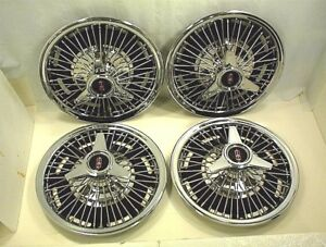 Oldsmobile Hubcaps 14 Wire Wheel Type Spinner Chevrolet Pontiac Buick Hot Rod