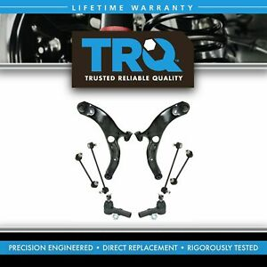 Steering Suspension Kit Control Arms Sway Links Tie Rods For Mazda Protege 5