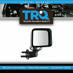 Mirror Power Heated Smooth Textured Black Passenger Right Rh For Jeep Wrangler