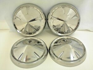 Vintage Plymouth Hubcaps Dog Dish Mopar Wheel Cover 1957 1958 1959 1960 Set 4