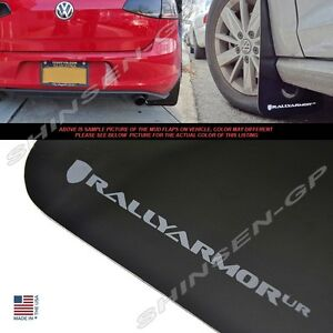 Rally Armor Ur Black Mud Flaps Grey Logo For 2015 Vw Mkvii Golf Tsi Gti