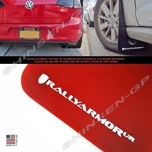 Rally Armor Ur Red Mud Flaps White Logo For 2015 Vw Mkvii Golf Tsi Gti