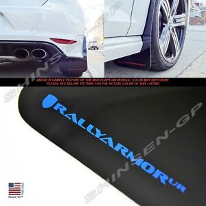 Rally Armor Ur Black Mud Flaps With Blue Logo For 2015 2017 Vw Mkvii Golf R