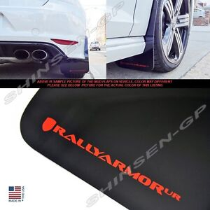 Rally Armor Ur Black Mud Flaps With Red Logo For 2015 2017 Vw Mkvii Golf R