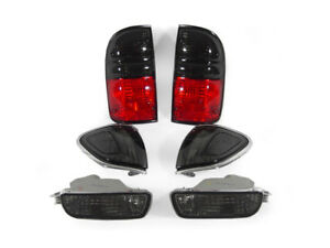 6pcs Depo Smoke Tail Corner Bumper Signal Lights For 2001 2004 Toyota Tacoma