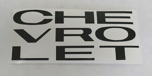 63 64 65 66 Chevy Pickup Truck Grill Decal Letters Black
