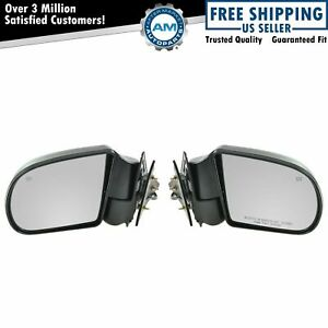 Black Power Heated Side Door Mirrors Left Right Pair Set For Blazer S10 Jimmy