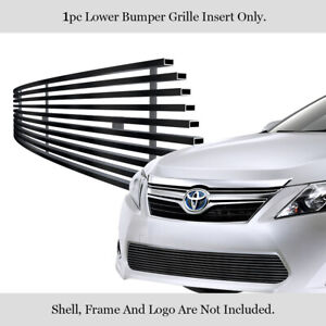 Fits 2012 2014 Toyota Camry Stainless Steel Black Lower Bumper Billet Grille