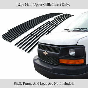 For 03 16 Chevy Express Explorer Conversion Van Stainless Black Billet Grille