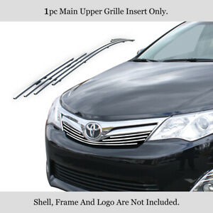 Fits 2012 2014 Toyota Camry Stainless Steel Billet Main Upper Grille