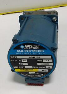 Superior Electric Slo syn Synchronous stepping Motor Ss421g4 pzb