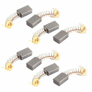 8 Pcs Replacement Electric Motor Carbon Brushes 15mm X 10mm X 6mm For Motors
