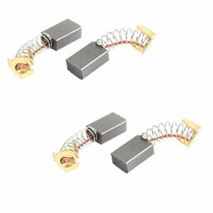 4 Pcs 15mm X 10mm X 6mm Replacement Electric Motor Carbon Brushes For Motors