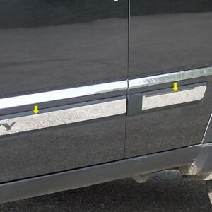 For Jeep Liberty 2008 2012 Saa Mi48070 I type Polished Body Side Moldings