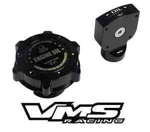 Vms Billet Aluminum Black Anodized Oil Cap Dipstick Ls2 Ls 2 Engine Oil Emblem B