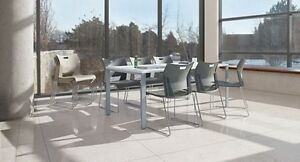 White Princeton Conference Table Set With 6 Chairs 36 d X 72 w X 29 h