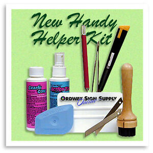 The Ordway Signmaker Graphic Vinyl Application Handy Helper Kit