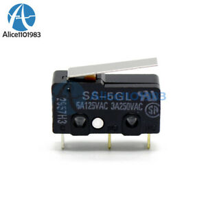 5pcs Mini Limit Switch Com nc no End Stop Switch Omron Ss 5gl For 3d Printer