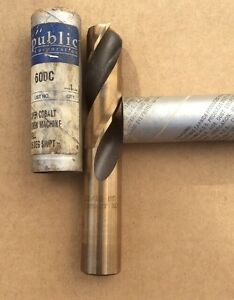 15 16 Heavy Duty Cobalt 135 Notched Point Stub Length Drill Usa 600c 15 16