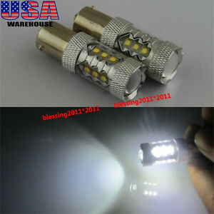 2pcs Cree Led Bulbs 1156 80w For Vw Jetta Mk6 Daytime Running Lights Drl Lamps