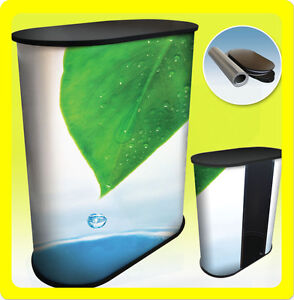 Custom Podium Table Pop Up Counter Stand Trade Show Display Fullcolor S1