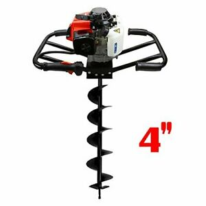3hp 63cc Epa Gas Earth 2 Man Post Hole Digger W 4 Auger Bit Machine 2 Person Hd