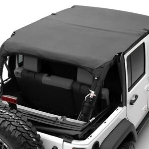 For Jeep Wrangler 2007 2009 Smittybilt 94535 Outback Black Diamond Bikini Top