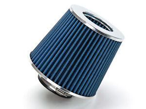 Blue 3 5 89mm Inlet Cold Air Intake Cone Replacement Quality Dry Air Filter