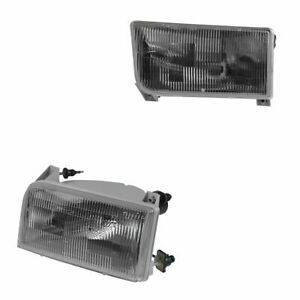 Oem Headlight Lamp Assembly Pair Set Of 2 Lh Rh For Ford Bronco F150 F250 F350
