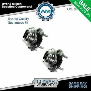 Wheel Hub Bearing Front Left Right Pair Set For 07 11 Altima W Abs 2 5l
