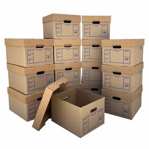 15 File Office Boxes 15 X 12 X 10 200 Strength Tape free Storage Moving