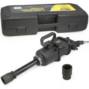 4000ft lb Air Impact Wrench 1 Drive Gun Long Commercial Truck W 2 Sockets Shank
