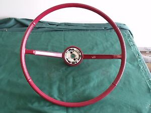 Nos 1966 Ford Galaxie 500 Red Steering Wheel Fomoco 66