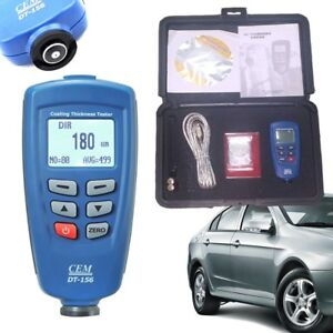 Cem Dt 156 Paint Coating Thickness Gauge Meter 1250 m V groove Auto F nf Tester