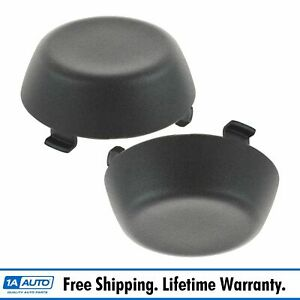 Oem Rear Bumper Bolt Cap Cover Textured Black Plastic Lh Rh Pair For Toyota