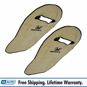 Oem Tan Cotton Terry Velour Seat Armour Cover Front Lh Rh Pair For Honda