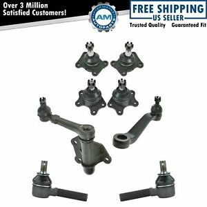 Upper Lower Ball Joint Outer Tie Rod End Idler Pitman Arm Set For Toyota 4wd New