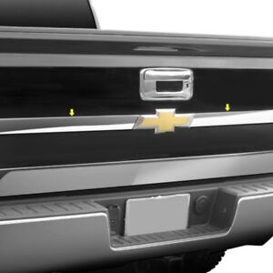 For Chevy Silverado 3500 Hd 14 18 Saa Tp54181 Polished Upper Tailgate Trim