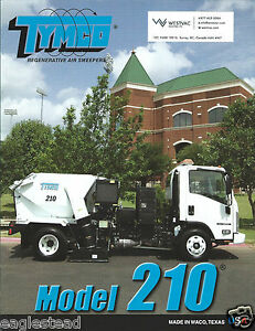 Equipment Brochure Tymco 210 Regenerative Air Sweeper 2009 e3003