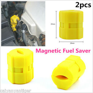 2 Universal Magnetic Gas Fuel Saver For Car Motorcycles Truck Reduce Emission