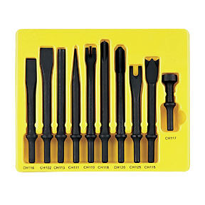 10 Pc 401 Shank General Service Chisel Set Grey Pneumatic Cs110 Gry