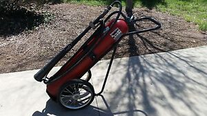 Wheeled Fire Extinguisher Co2 50lb Carbon Dioxide