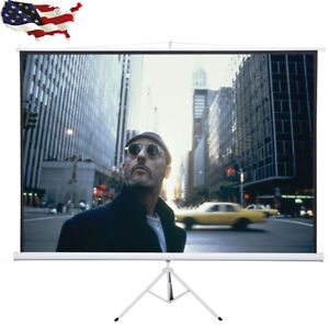 120 4 3 Tripod Compact Portable Projector Projection Screen Matte White New
