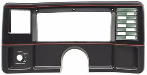 82 88 Monte Carlo Ss El Camino New Dash Face Plate Black With Red Stripes