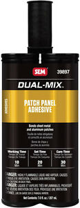 Dual Mix Patch Panel Adhesive Opaque Cream 7 Oz Cartridge Sem Products 39897